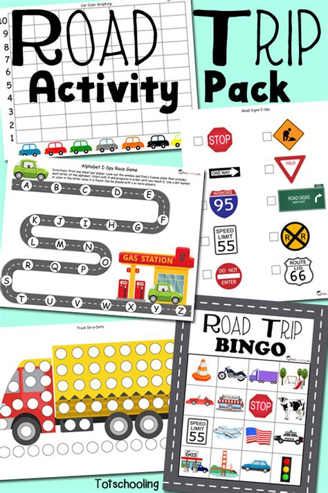 printable road trip games for preschoolers road trip activity pack for traveling with kids
