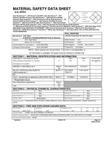 Sds Register Template by Search Awesome Material Safety Data Sheet Msds