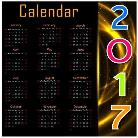 design calendar background 2017 calendar design on black background vectors stock in