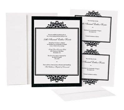 printing wedding invitations office depot great papers opulent onyx invitation kit 25pk wedding