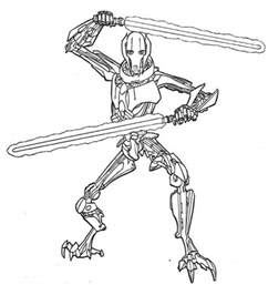 General Grievous Coloring Page wars general grievous coloring pages az coloring pages