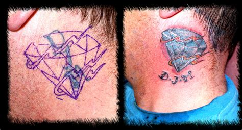 diamond tattoo cover up ideas diamond cover up tattoo picture