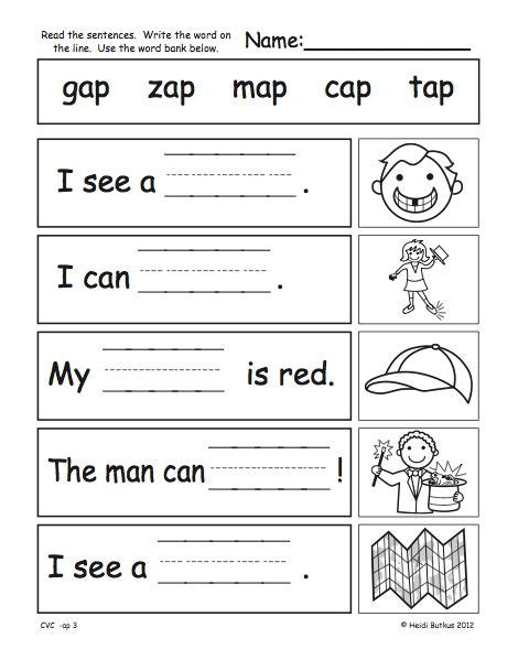 kindergarten activities pdf cvc worksheets pdf google search phonics pinterest