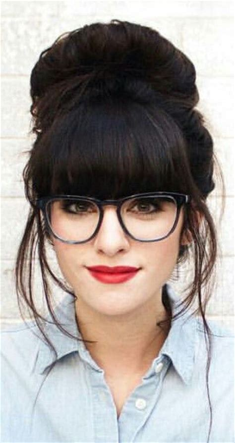 hairstyles with glasses and bangs 25 best ideas about bangs and glasses on pinterest