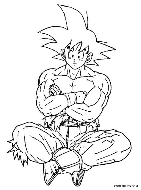 Goku Saiyan 5 Coloring Pages goku saiyan4 free colouring pages