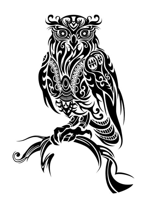 11 beautiful tribal owl tattoo only tribal