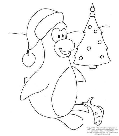 merry christmas coloring pages of penguin merry best