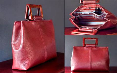 Free Pattern Leather Bag | trendy faux leather handbag free sewing pattern love
