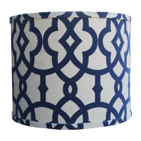 navy and white l shade navy fretwork l shade by doodlefish rosenberryrooms com