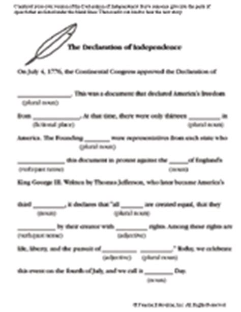 printable quiz on declaration of independence fourth of july writing activity printable familyeducation