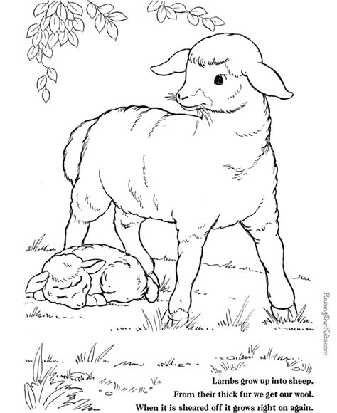 Free Farm Animal Coloring Pages Coloring Home Free Coloring Pages Farm Animals