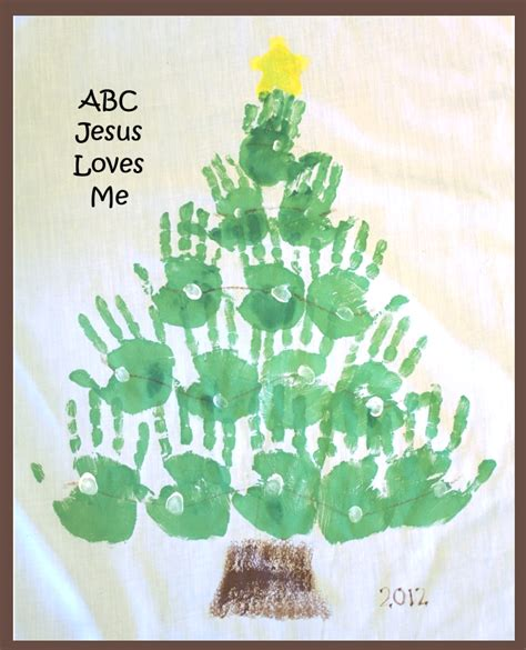 handprint footprint calendar abc jesus loves me