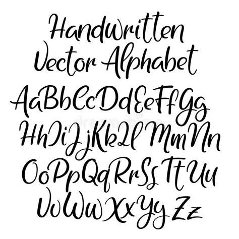 design font uppercase modern calligraphy style alphabet handwritten font
