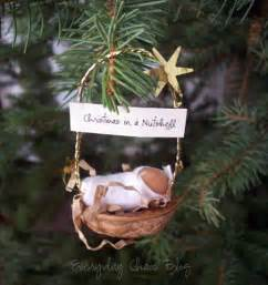 baby jesus in a walnut shell ornament ornaments