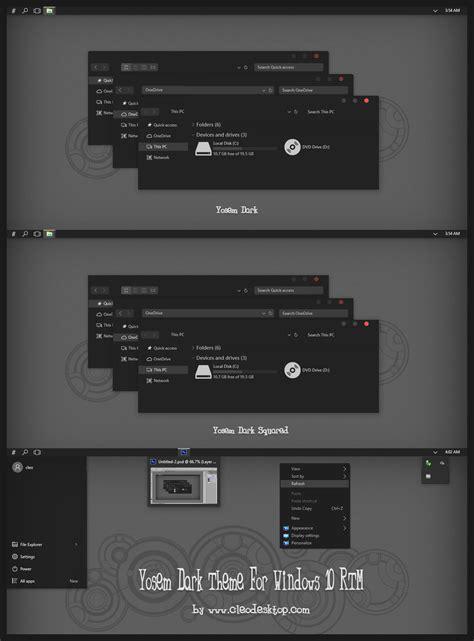ubuntu dark theme for windows 10 rtm yosem dark theme for windows 10 rtm by cleodesktop on