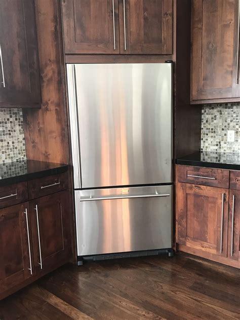 corner fridge kitchen layout modern kitchen island