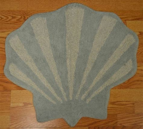 seashell rugs bathroom saturday knight ltd coastal collage seashell bath rug 24