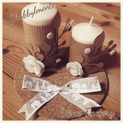 centrotavola natalizi con candele centrotavola natalizio con candele decorate con cartoncino
