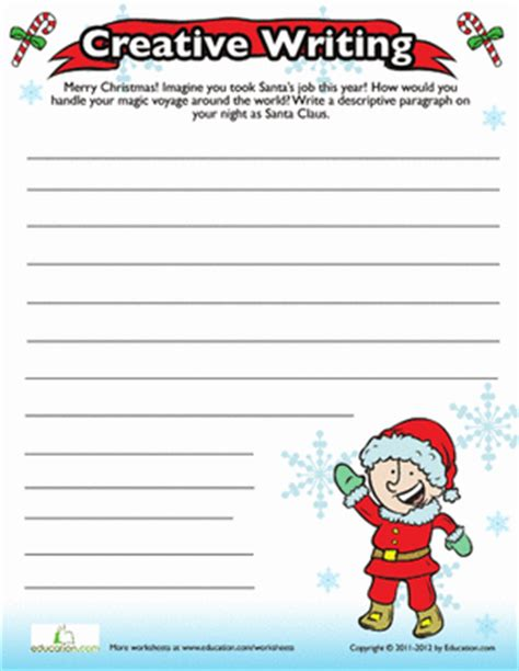 christmas writing activities for 2nd grade writing prompt worksheet education