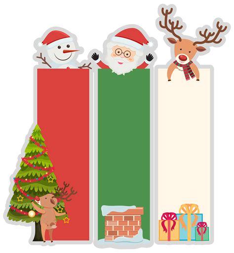 christmas banner template  tree  santa   vectors clipart graphics vector art