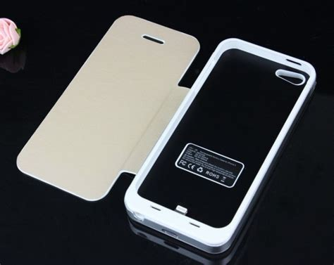Batere Power Iphone 5s backup battery charger 3500mah power bank cover for iphone 5 5s ios 7 leather flip