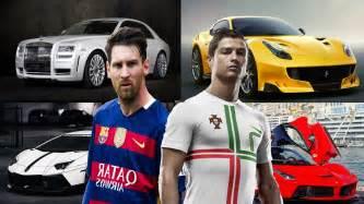 lionel messi new car cristiano ronaldo s cars vs lionel messi s cars 2017