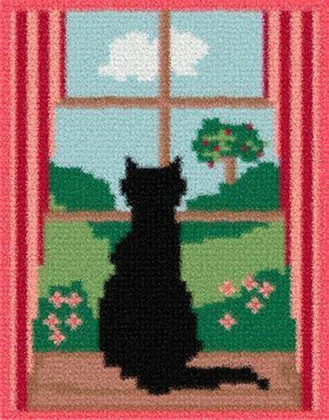 latch hook rug pattern chart cat in window email2u