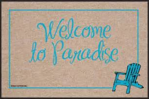 Jute Doormat Funny Doormat Welcome To Paradise Coco Mats N More