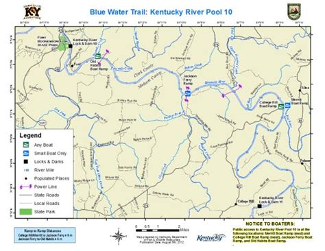 kentucky map with rivers and lakes kentucky department of fish wildlife kentucky river pool 10