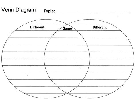 printable venn diagram printable blank venn diagram template worksheet