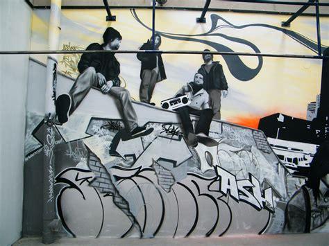 gym mural artwork custom street graffiti  painted murals