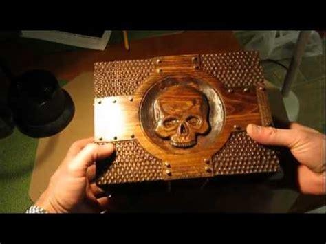 skull knife box carved wooden box youtube