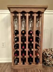 build  simple wine rack  pallets wood