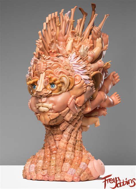doll artwork artist turns dolls into creepy yet amazing sculptures