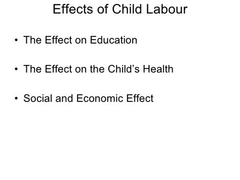 Child Labor Essay Causes And Effects by Essay About The Effect Of Television On Children