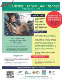 Car Cover Laws California California Child Car Seat Laws Changing For 2017 Our