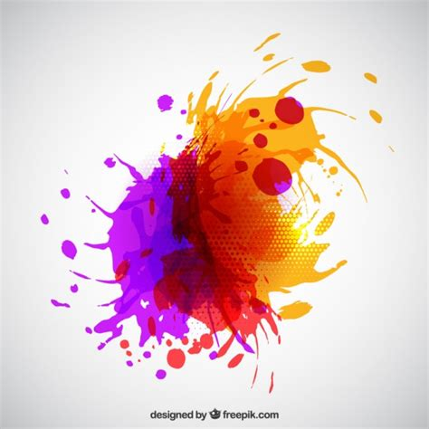 abstract paint splash vector free
