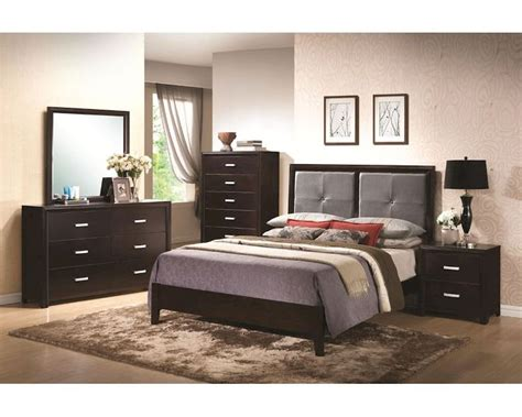 Padded Headboard Bedroom Sets by Coaster Bedroom Set W Padded Headboard Andreas Co 202471set