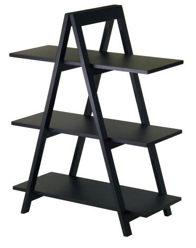 winsome wood 3 tier a frame shelf black furniturendecor