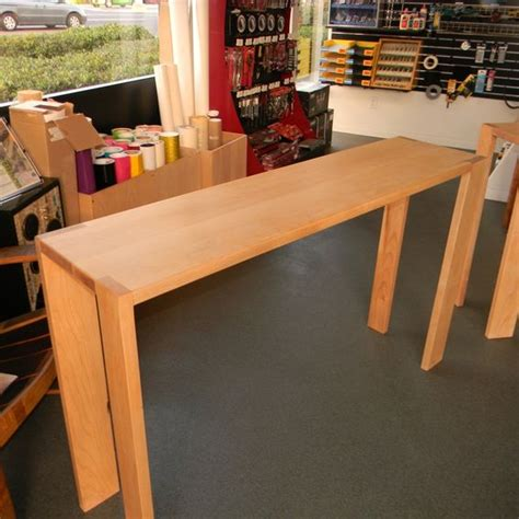 narrow counter height table crafted michael s counter height narrow maple