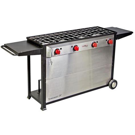 Outdoor Cooktop Propane - shop c chef somerset iv 34 in 4 burner propane 20 lb
