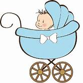 Baby Boy Carriage Clip Art