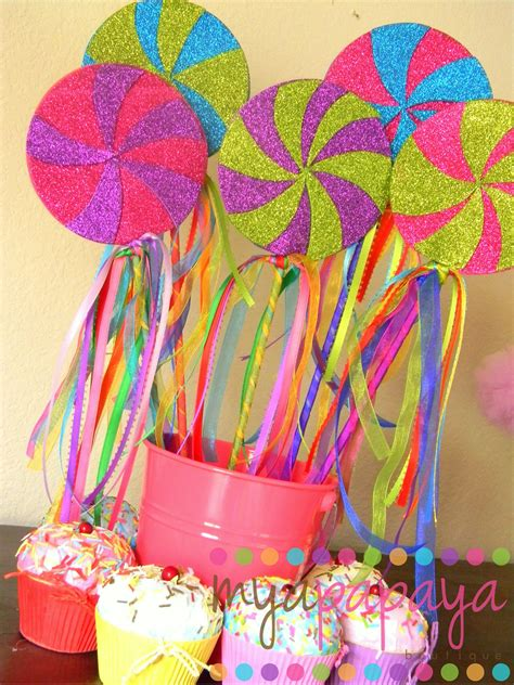 candyland theme decorations candyland lollipop wandsset of six magical by