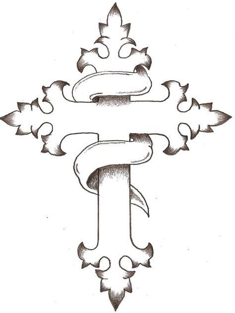 cross tattoo line drawing 11 best crosses images on pinterest crosses tattoo