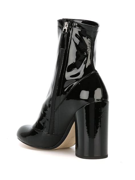 marc patent leather ankle boots in black lyst