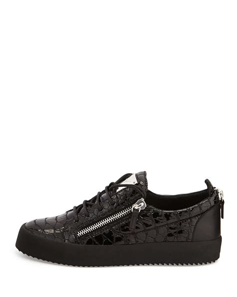 giuseppe sneakers mens lyst giuseppe zanotti crocodile embossed low top