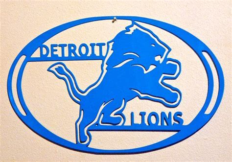 detroit lions wall metal home decor football
