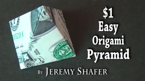 easy origami with dollar bills one dollar easy origami pyramid doovi