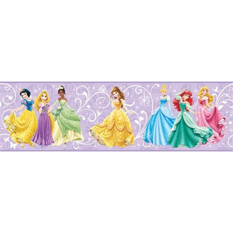disney wallpaper border walt disney kids ii true princess within border