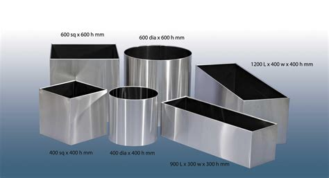 Stainless Steel Planter Pots by Stainless Steel Plant Pots Furniture For Spaces